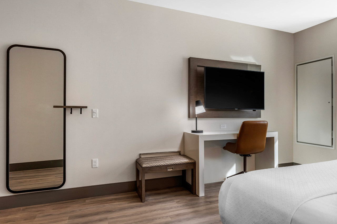 Hotel Room with flat-screen TV